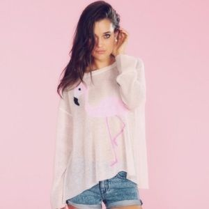 Wildfox Flamingo Roadie Sweater